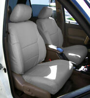TOYOTA 4RUNNER 1996-2002 GREY S.LEATHER CUSTOM MADE FIT FRONT SEAT COVERS