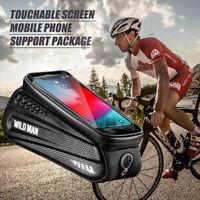 Waterproof EVA Bike Bag Bicycle Top Tube Front Frame Phone Holder Case Cycling
