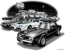 "TRANS AM 76,77,78,79 MUSCLE CAR ART PRINT #6502  ""FREE USA SHIPPING"""