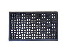 Tapis Paillasson caoutchouc noir - 75 x 45 x 1.2 cm - Haute qualité