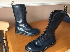 Dr Martens 1B99 blue patent leather boots UK 6 EU 39 skin goth punk