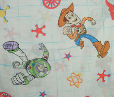 Toy Story Twin Flat Top Sheet Pillow Case Buzz Lightyear Sheriff Woody Cowboy