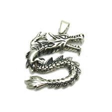 Colgante de plata de ley dragón oxidado motero 925 nuevo PE000279 EMPESS SÓLIDO