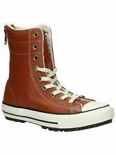 Converse Wmn's Chuck Taylor Allstar Hi Rise Boot Leather+Fur Antique Sepia SZ 7