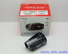 CANON LEGRIA HF200 CAMCORDER BOXED HIGH DEFINITION HD SDHC CARD DIGITAL VIDEO