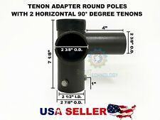Adapter with 2 Horizontal 90° Tenon for Shoebox, Street, Parking, Pole Lights