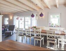 IKEA INGOLF NEU & OVP Stuhl aus Massivholz Holzstuhl WEIß Stuhl Küchenstuhl