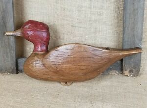 Vintage Syroco duck with pocket letter holder wall decor or wall planter 1961
