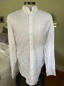 Suitsupply Men's Tall Sz 17 x 38/39 White Egyptian Cotton Dress Shirt J200607