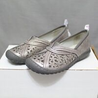 JBU By JAMBU womens slip-on flat PECAN silver shoes size 6 W round toe NEW