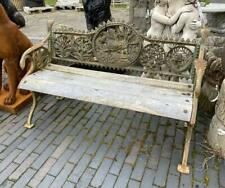 Cast Iron Garden Bench - Dog Design - Antique Style - Wooden Seat - Heavy