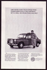 1965 Original Vintage MG Sports Sedan Car Photo Print AD b