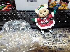 Christmas danbury mint The Baby Animal ornaments Le Nwt Glitter Bear Ice Dancer