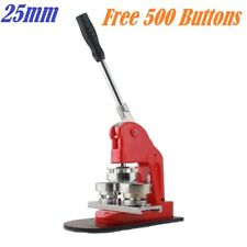 "1"" 25mm Badge Press Button Making Machine 500 Buttons Circle Cutter"