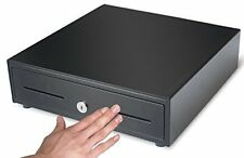 "Cash Trays Heavy Duty Compact 13"" Black Manual Push-Open Cash Drawer With Bill"