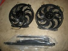 Derale Performance Tornado Curved Blade Dual Electric Fans #16834 w/brackets NEW