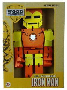 Invincible Iron Man Wood Warriors 8 Inch Figure Series 1 Marvel Comics New