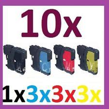10x drucker Patronen für BROTHER MFC250C MFC255CW MFC290C  MFC490CW LC980 LC1100