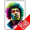 Jimi Hendrix Affiche Poster Artistique A4 A3 Taille - Achetez 2 Get Importe 2