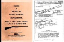 Winchester Model 37 Sequence of Take-Down and Assembly Operations