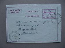 BELGIUM, aerogramme to the Netherlands 1959, aeroplane 4 Fr, canc Baarle Hertog