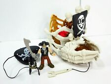 Imaginext Shark Pirates Billy Bones Boat Skeleton Bone Ship Fisher Price
