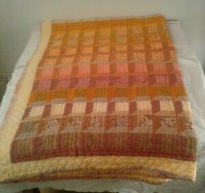 "QUILT CAROLYN SPIEGEL Handmade Patchwork  Quilt 57' x 82"""
