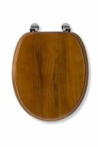 Croydex Solid Wood Toilet Seat, Antique Pine