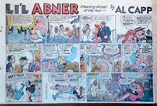 Li'l Abner by Frank Frazetta - large half-page Sunday color comic, Oct. 4, 1959