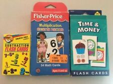 Educational Flash Cards - Multiplication, Subtraction and Time & Money