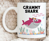 Grammy Shark Mug For Grammy Gifts For Grammy Coffee Mug Mothers Day Gifts