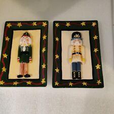 MWW Market NUTCRACKER Mini Plates (2) Christmas Cindy Shamp