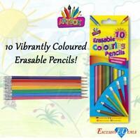 Artbox Erasable Colouring Pencils Pack of 10 Vibrant Colours Party Bag Filler