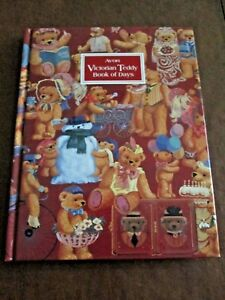 """AVON GIFT COLLECTION~~VICTORIAN TEDDY BOOK OF DAYS~~9 1/4"""" X 7 1/4"""" *NEW SEALED"""