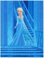 Disney Fine Art Limited Edition Canvas Alone and Free Elsa/Frozen-Hernandez