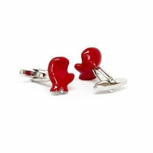 Red Boxing Glove Cufflinks Fighter Boxer Knock Out Mma Sports + Box And Cleaner