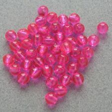 6mm 200 Count Round Fluorescent PINK Beads USA Fishing Tackle Free Shipping
