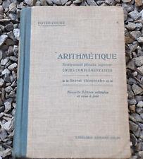 Livre arithmétique,Royer-Court,de 1932,cours complément
