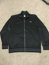 MEN'S THE NORTH FACE ZIP FRONT SWEAT JACKET BLACK WITH GRAY STRIPES Mens XL
