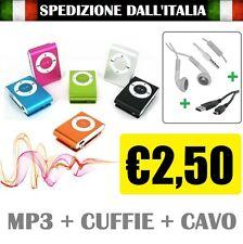 Mini Lettore MP3 Player con Clip USB ideale per lo SPORT Supporta 8GB Micro SD