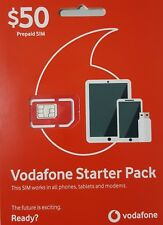 Vodafone $50 Prepaid Mobile / Broadband Starter Pack - All in one sim 50 GB DATA