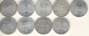 Österreich 500 Schilling # 9 Münzen # Silber