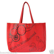 Disney Store Japan Alice in Wonderland Tote Bag with Pass Card Pocket Red