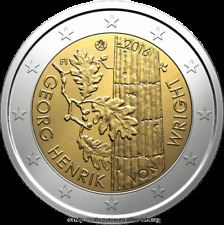"""FINLANDIA FINLAND FINNLAND 2 € EURO 2016  """"WRIGHT"""" FDC BU ST DA ROTOLINO"""