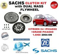 FOR CITROEN C4 + GRAND + PICASSO 1.6 HDi 2004->NEW CLUTCH KIT + FLYWHEEL & BOLTS