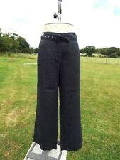 Wide Leg Linen Plus Size Trousers NEXT for Women