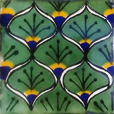 C#056) MEXICAN TILES CERAMIC HAND MADE SPANISH INFLUENCE TALAVERA MOSAIC ART