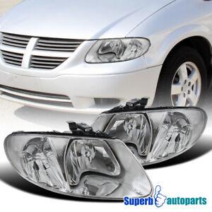 For 2001-2007 Dodge Caravan Chrysler Town&Counry Headlights+Head Lamp
