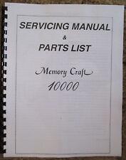 Janome Memory Craft 10000 Sewing Machine Service Repair Manual + Parts List