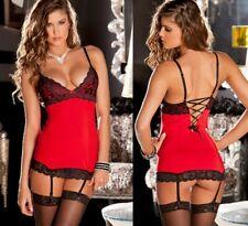 Sexy-Lace-Babydoll-Nightwear-Women-Mini-Dress-Lingerie-Underwear-Set-Sleepwear